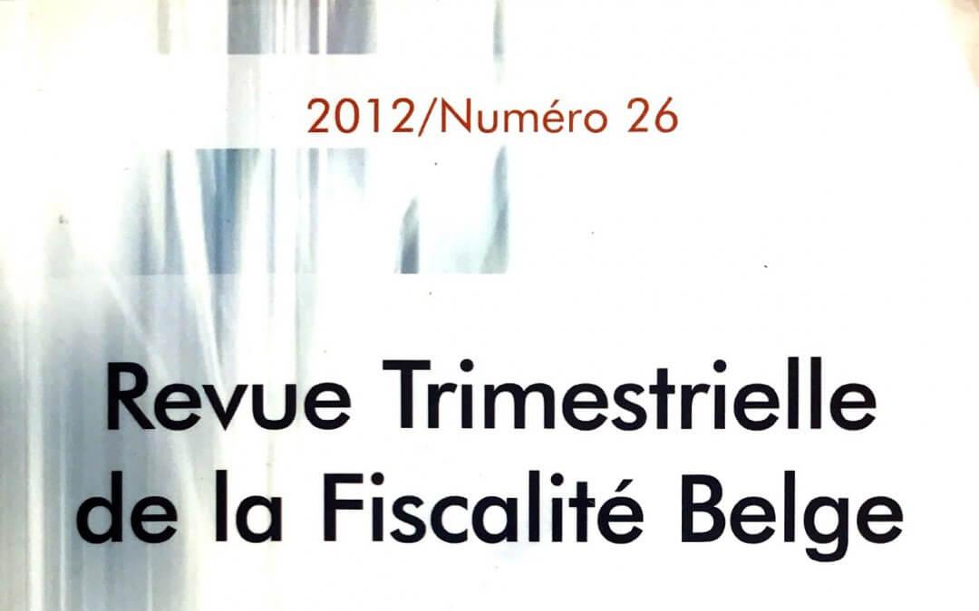 Les Management Fees : étude d'un cas pratique entre sociétés belges